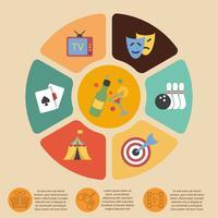 Unterhaltungen Infografiken gesetzt