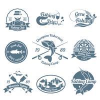 Fischerei-Label-Set