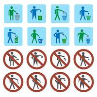 Conjunto de iconos de basura