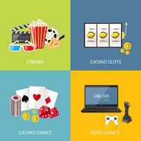 Conjunto de jogos plana