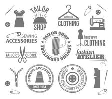 Sewing equipment labels