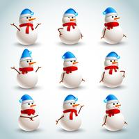 Bonhomme de neige émotions