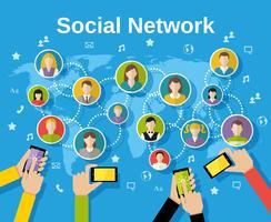 Concetto di rete sociale