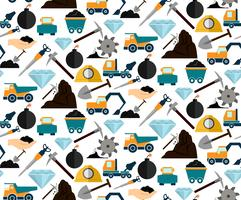 Mining seamless pattern vector