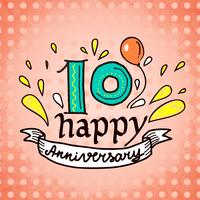 Segno di anniversario 10