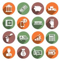 Icone di servizio bancario