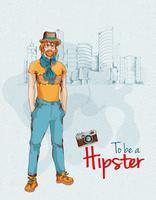 Hipster boy city