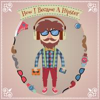 Poster ragazzo Hipster