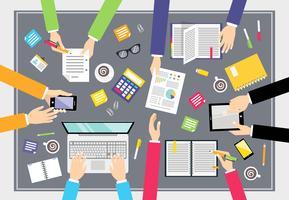 Concepto de trabajo en equipo de negocios