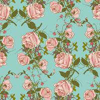 Vintage floral seamless color pattern