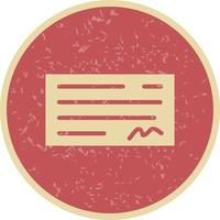 Vector Cheque Icon