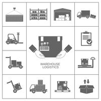 Warehouse icons black