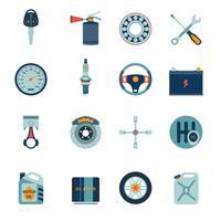 Iconos de piezas de coche planos