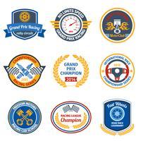 Racing emblemen gekleurd