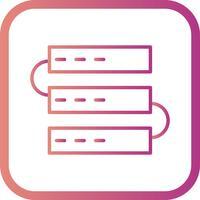 Icône de serveurs de vecteur
