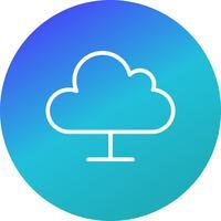 Wolke, die Vektor-Ikone berechnet