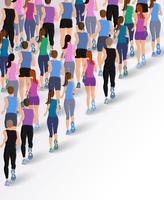 Group running people vector