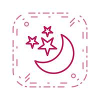 Maan en sterren Vector Icon