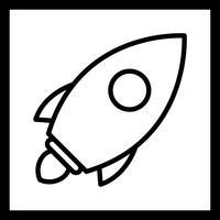 Icône de lancement de vecteur