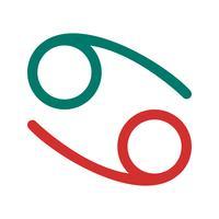 Krebs-Vektor-Symbol