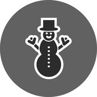 Ícone de vetor de boneco de neve