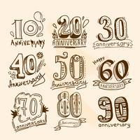 Conjunto de sinais de aniversário