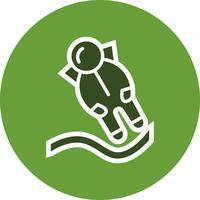 Astronout-Landungs-Vektor-Symbol