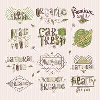 Etiqueta de alimentos naturales