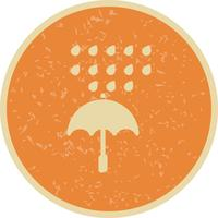 Umbrella And Rain Vector Icon