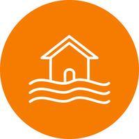 symbol för översvämningssymbolen vektor