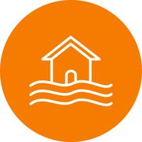 Inondation symbole vecteur icône