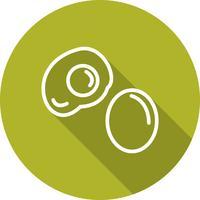 Vektor ägg ikon