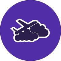 Vliegtuig wolk Vector pictogram