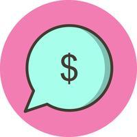 Icona di vettore Invia denaro