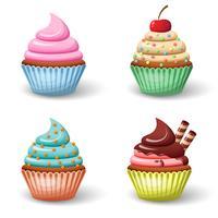 Süßer Cupcake-Set