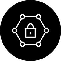 Icône de réseau protégé de vecteur