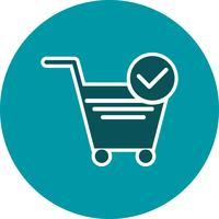 Vector Verified Cart Items-Symbol
