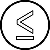 Lessthen-Vektor-Symbol