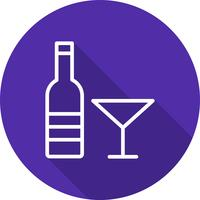 Icona del vino vettoriale