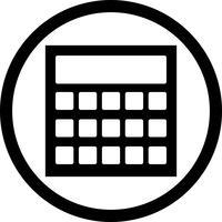 Icono de cálculo vectorial