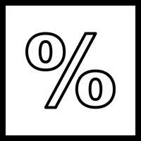 Porcentagem de vetor ícone