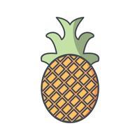 Vector icono de piña