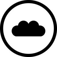 Vector wolk pictogram