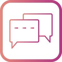 Vector Conversation Icon