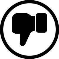 N'aime pas Vector Icon
