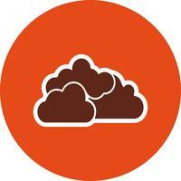 Icône de vecteur nuageux