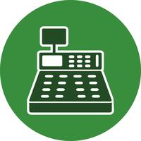 Vector Cash Counter Icon