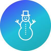 Bonhomme de neige Vector Icon