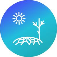Drought Vector Icon