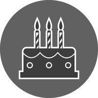 Icône de gâteau de vecteur